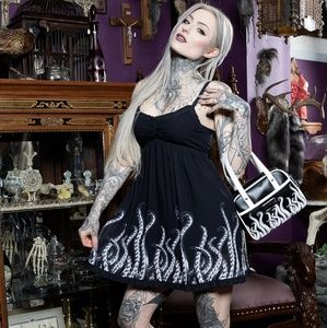Sourpuss Clothing Tattoo Pinup Tentacles Dress NWT